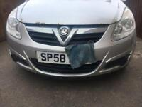 Vauxhall Corsa d silver front bumper and grill.