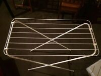 White foldable drying rack
