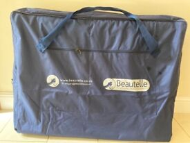 Beautelle portable massage couch + headrest and couch cover(new)