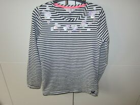 Girls Age 11-12 Jasper Conran Striped Top with Flower Detail