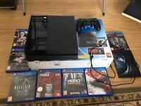 Ps4 console with three games