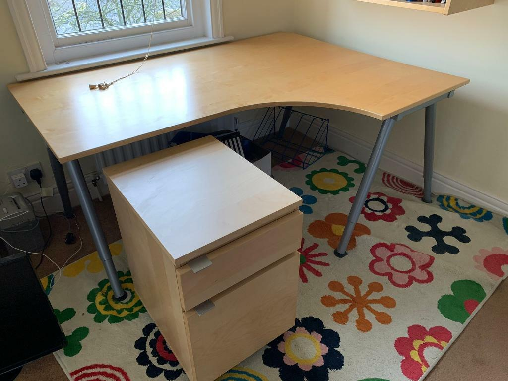 Ikea desk drawers wall shelf and chair not ikea in durham