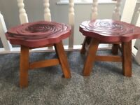 Beautiful wooden tables