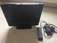Portable TV with built in DVD player, excellent working condition