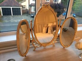 Dressing table mirror shabby chic, vintage