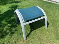 Garden Furniture - Footstool - light grey and blue - Outdoor dining