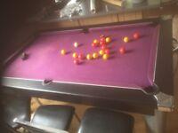 Pool table solid slate