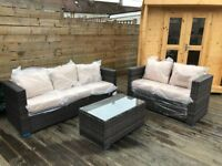 Outdoor conservatory garden set seats, 5 seater sofa set with table - Free delivery