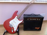 Strat Guitar & Amp.....Priced to sell !!!!!