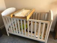 Cot bed/Toddler bed with change table