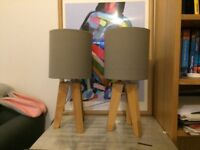 Classy, modern and chic set of 2 table lamps