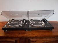 Technics 1210 mk2 Turntables mint condition/boxed+ free mixer