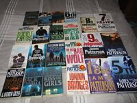 22 James Patterson Books - £5 for the Lot for quick sale