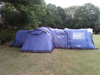 Kasari Vango 800 + Front Canopy - Extra Large Tent, 3 bedrooms, great for family, could sleep 12!