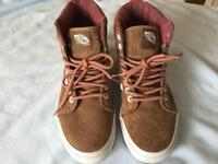 Women's/girls Vans Brown suede with Pink leather detail size 5