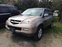 2004 Acura MDX AWD WITH NAV, LEATHER & MOONROOF