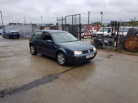 FOR SALE VOLKSWAGEN GOLF 2003 ONLY £499