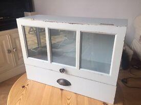 Vintage duck egg blue display cabinet
