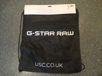 G STAR RAW draw string bag BRAND NEW WITH TAGS great for holidays/beach/gym/festivals/school etc...