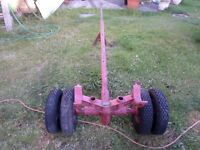 Heavy duty towing dolly, multi position swivel action .