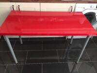 2 Ikea LINNMON Desks (glossy red)