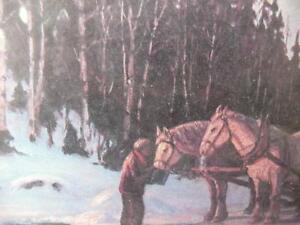 """Frank Panabaker """"Stopping By Woods"""" Vintage Print Stratford Kitchener Area image 6"""