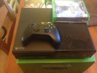 XBOX ONE 500gb boxed with 5 games inc FIFA 17