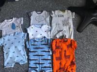 Next bundle of up to 1 month boys clothes