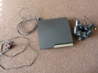 Sony PlayStation 3 Slim 120GB Console with 2 Dual Shock Controllers & Dock