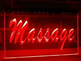 LED massage service display sign for spa or massage salon, boxed with AC power cord and chain