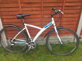 B'twin White Bike fully working condition