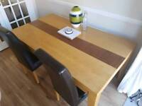 Solid Oak dining table.