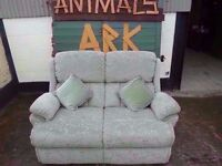 Green Fabric 2 seat Sofa Delivery Available £20