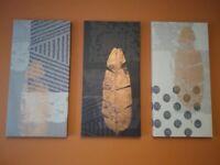 Three Piece Wall Art Canvas Set