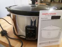 Morphy Richards Slow Cooker Oval 6.5 Large Silver Family Size