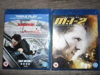 Mission Impossible 2 & Ghost Protocol Blu Rays