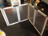 Disabled half height shower screen and shower rail