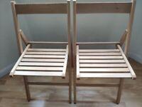 IKEA TERJE folding chairs oak x2