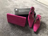 Hot pink Jacques Vert matching shoes and bag