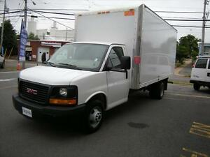 2015 GMC Savana 16' Gas Cube Van