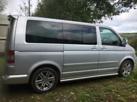 VW Caravelle Multivan camper 7 seats folding bed and table. 2.5 l/ 175 bhp