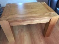 Two solid oak lamp/ side tables