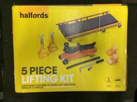 Car Jack and Stand Kit - Halfords - Brand New