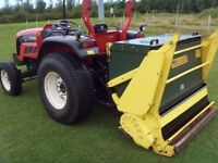 Danelander combi collector 4` 6 grass cutter and pickup. See Danelander web site for description