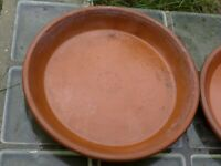 LARGE Vintage Terracotta Clay Plant Pot SAUCER. Water Tray. Diameter 41 cm.