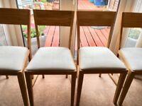 4 Laura Ashley Oak Brompton Range Dining Chairs