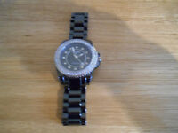 Rotary Stone Set Ceramique Bracelet Ladies Watch (CEBBS-04-B)