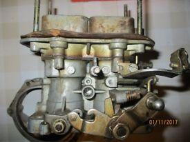 WEBER twin choke carburettor. 32DGR .Manual Choke 1452/1570 cc