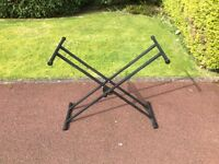 Universal double braced height adjustable keyboard stand