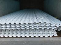 100X PLASTIC CORRUGATED SHEETS UV BLOCKING UNBREAKABLE POLYCARBONATE WHITE